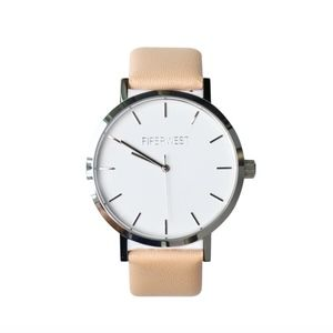 New PiperWest Classic Minimalist silver face watch
